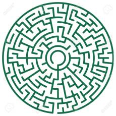 28103134-illustration-of-the-round-maze